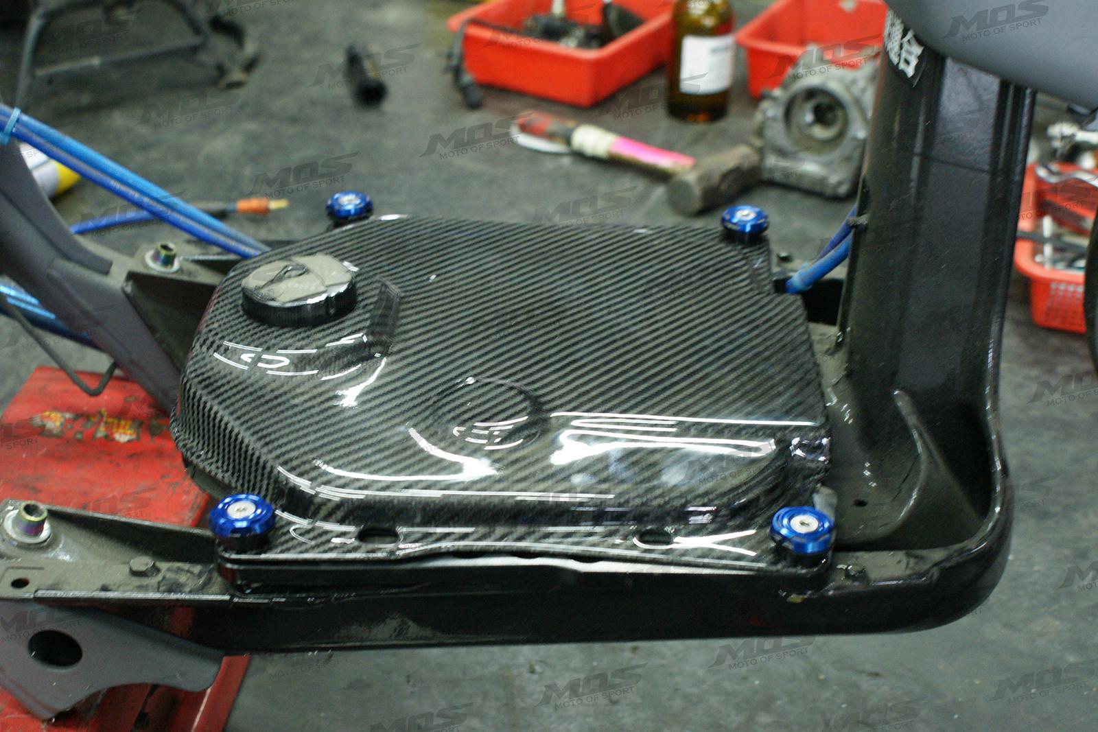 Honda Ruckus Zoomer 50cc Carbon Fiber Fuel Tank Cover Mos