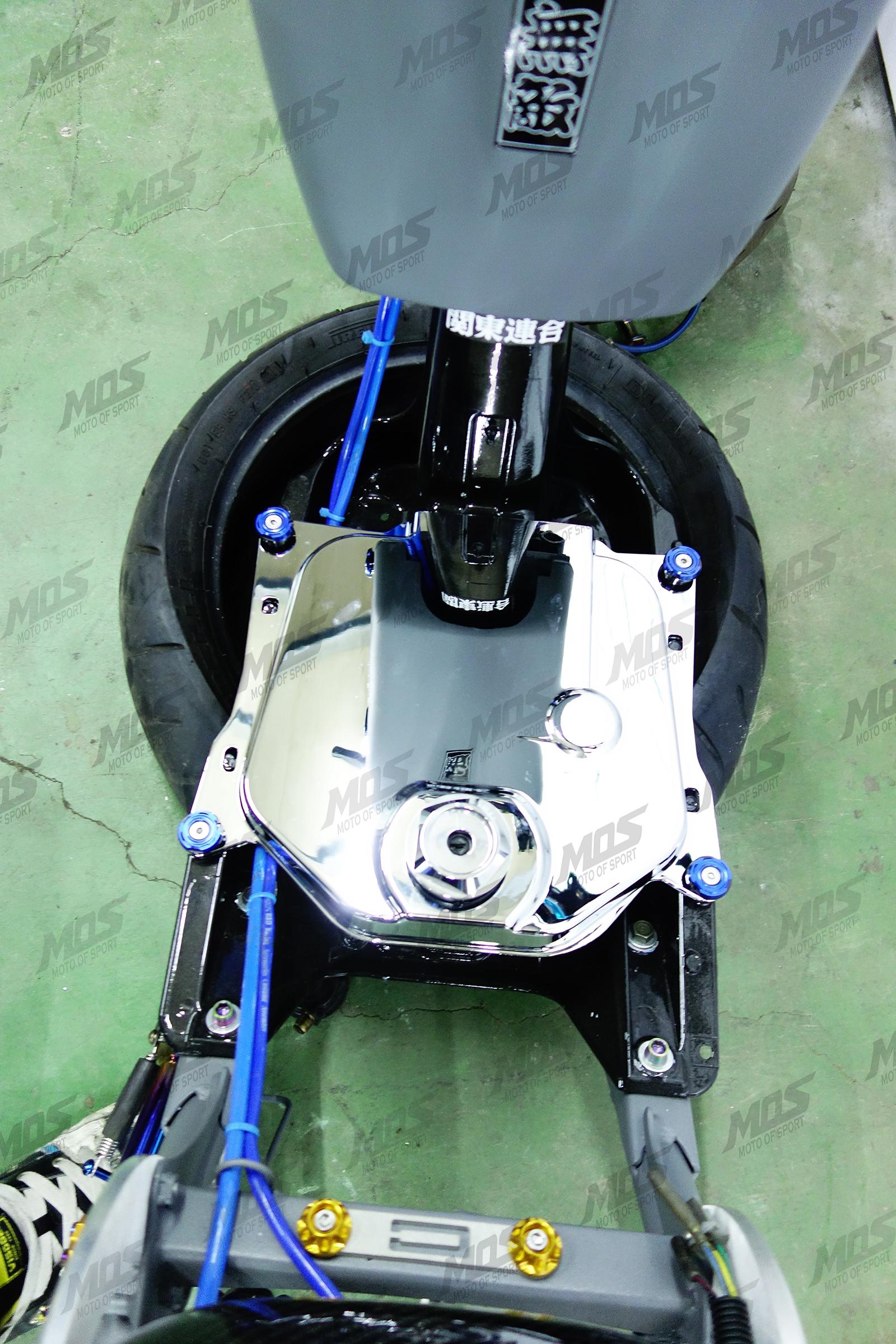 Honda Ruckus Zoomer 50cc Chrome Fuel Tank Cover Mos