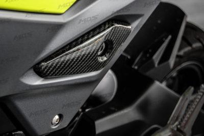 Carbon Fiber Seat Key Panel Covers for Honda Grom / MSX 125 2017