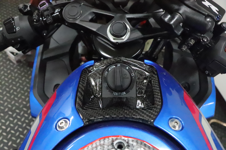 Carbon Fiber Key Lock Panel For Suzuki Gsx R150 Gsx R125 Gsx