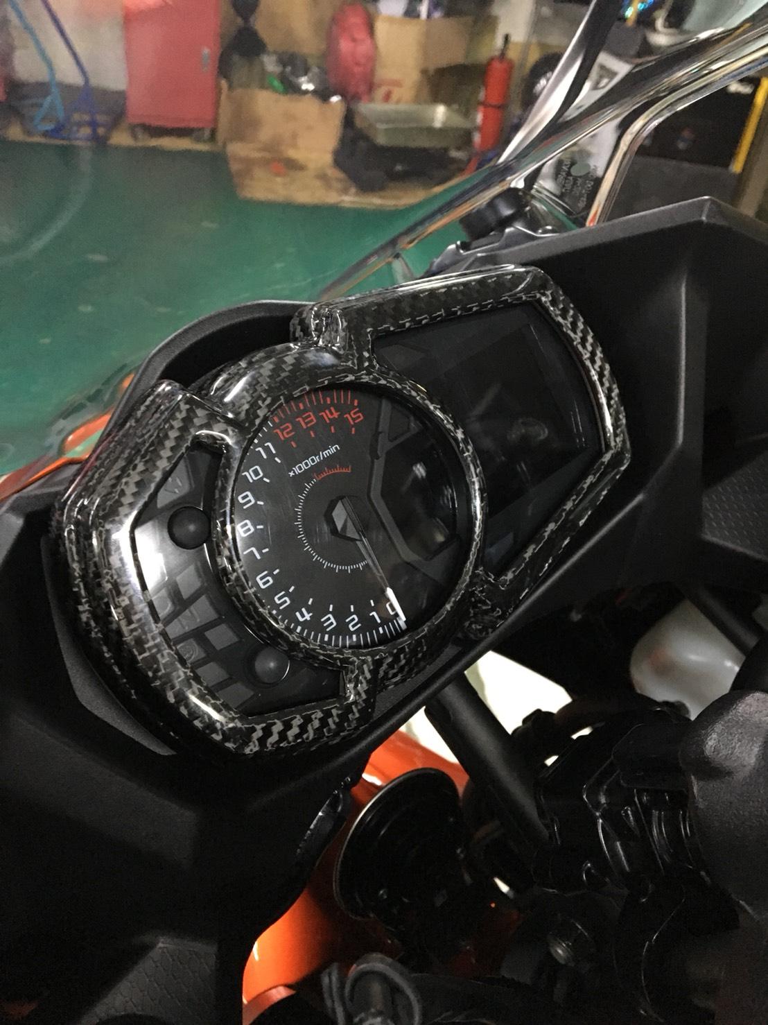 Carbon Fiber Instrument Panel Cover For Kawasaki Ninja 250 18 19 1000 Wiring Diagram 400 650 17 Zx 6r 2019