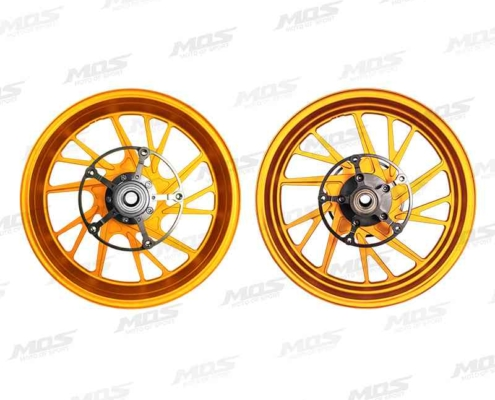 Forged Aluminum Alloy Wheels Set for Yamaha T-MAX 530 2017-2019 T-MAX560 2020 Matt Golden 10 Spokes、YAMAHA T-MAX 2017 T-MAX560 TF 17-10爪鍛造輪框