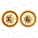 Forged Aluminum Alloy Wheels Set for Yamaha T-MAX 530 2017-2019 T-MAX560 2020 Matt Golden 10 Spokes、YAMAHA TMAX530 2017-2019 TMAX560 鍛造アルミホイール 前後セット (10スポーク)