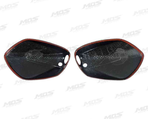 GSX-S150 後照鏡飾蓋、Carbon Fiber Side Mirror Covers for Suzuki GSX-S150 GSX-S125 2017-2019、GSX-S150 カーボン ミラーカバー